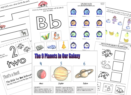 Some worksheets for your comprehensive kindergarten classroom here