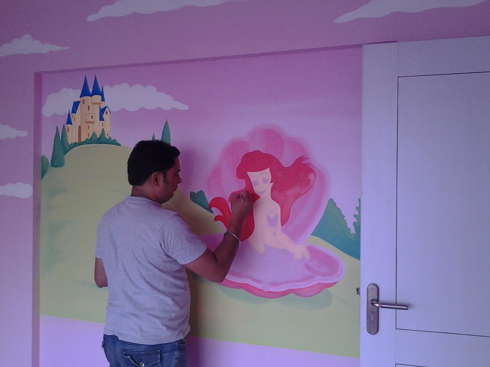 Day care classroom wall murals bandra for Classroom wall mural