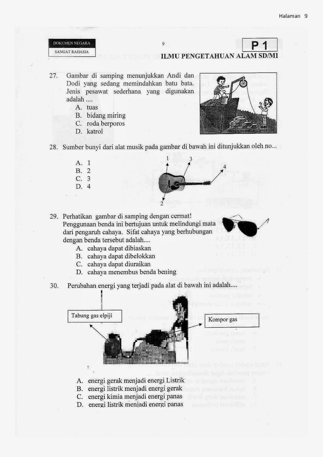 Soal Latihan Untuk Sd Kelas 6 Ipa Persiapan Ujian Biologi Gonzaga Persiapan Ujian Ipa Sd Kelas Vi