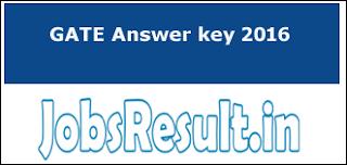 GATE Answer key 2016