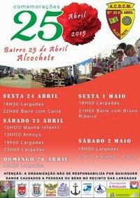 Alcochete(Bairro 25 de Abril)- Comemorações do 25 Abril 2015- 24 Abril a 2 Maio