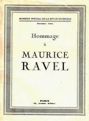 Hommage à Maurice Ravel / Revue Musicale (Henry Prunières) décembre 1938 (épuisé)