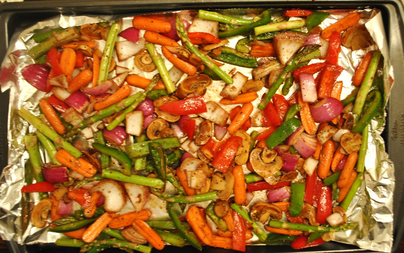 Roasted Chicken Thighs and Veggies