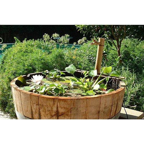 Bamboo worktops photos bamboo water spout for Bamboo water garden
