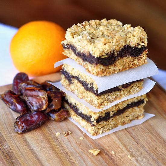 Orange Date Crumble Bars