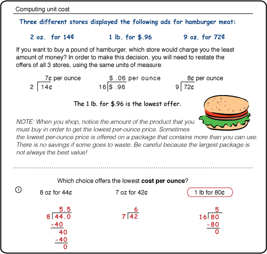 Free Worksheets complex number worksheet : Excel Math: Price Per Item Calculations