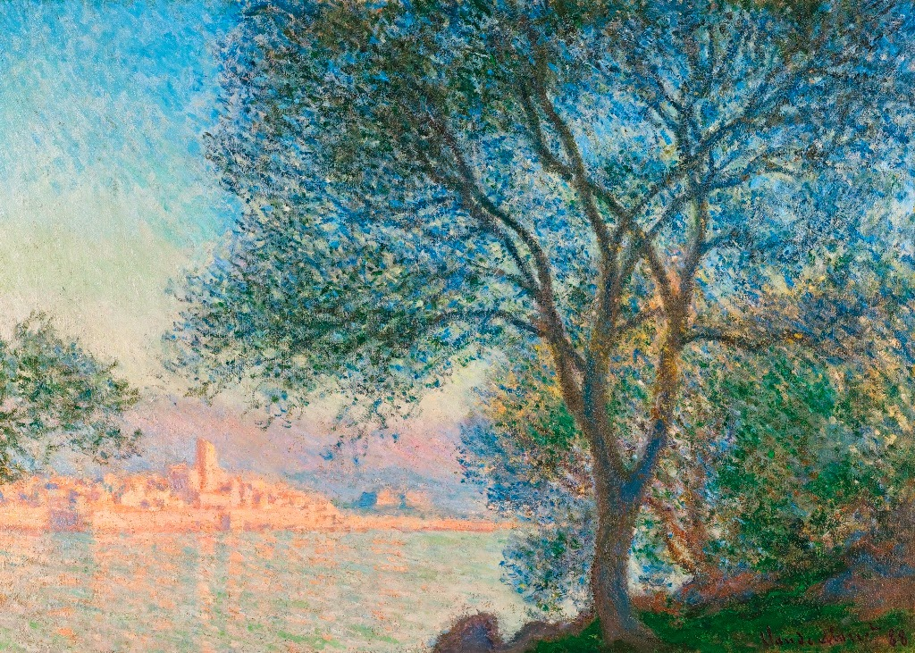 Клод Моне Antibes vue de la salis. 1888