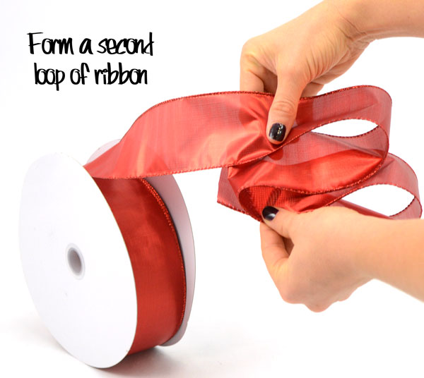Step Two: Ribbon Tuck Loops