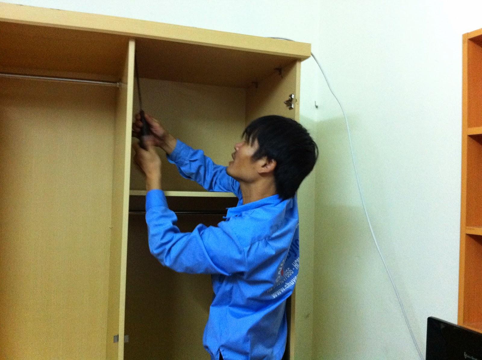 tháo lắp tủ kệ văn phòng