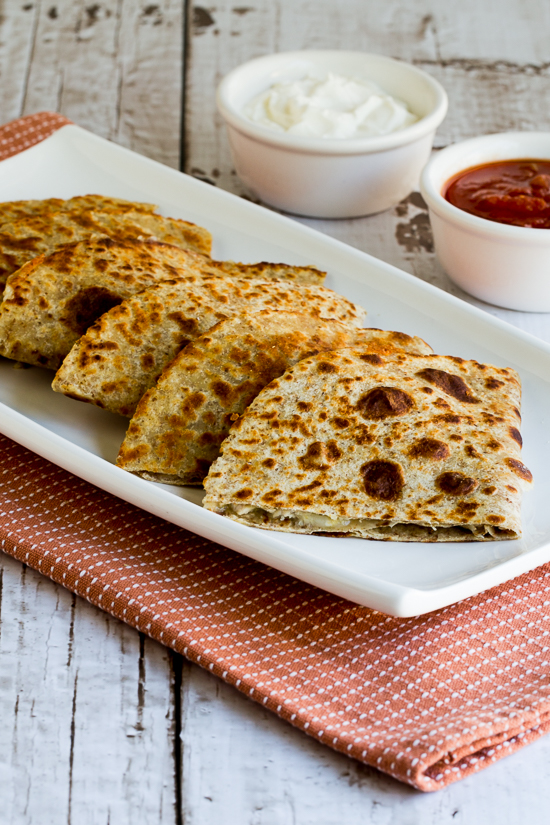 Serve hot. I like these quesadillas with some sour cream and salsa for ...