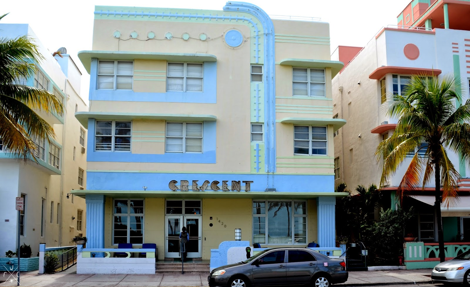 Crescent - Miami Beach, Floride, USA - Art Déco