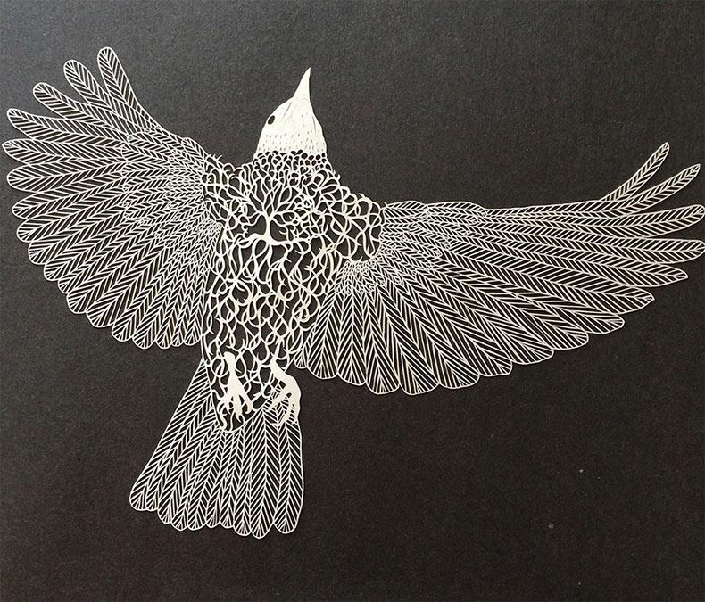 Meticulosas ilustraciones de corte de papel por Maude White