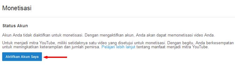 Cara Monetisasi Video Youtube