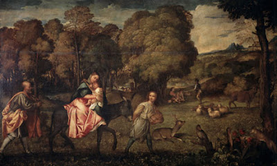 Titian - The Flight Into Egypt