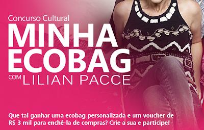 """Concurso Cultural """"Minha Ecobag com Lillian Pacce"""""""