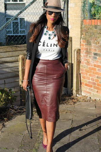 16 Best and Elegant Leather Skirt for Women Trends 2017-2018