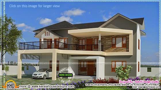 Elegant villa exterior design