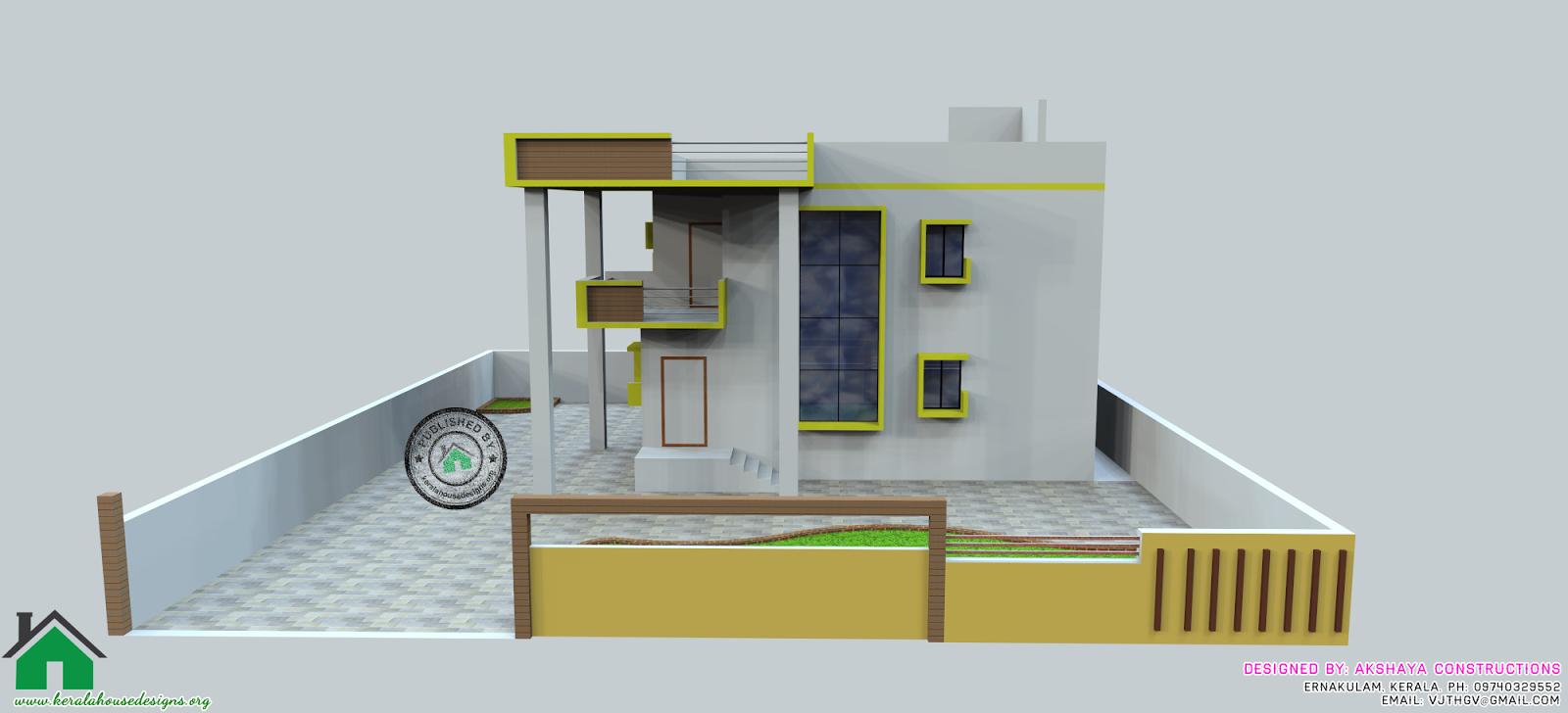 Kerala Modern House Design 3D Elevation and Floor Plan | Kerala Home ...
