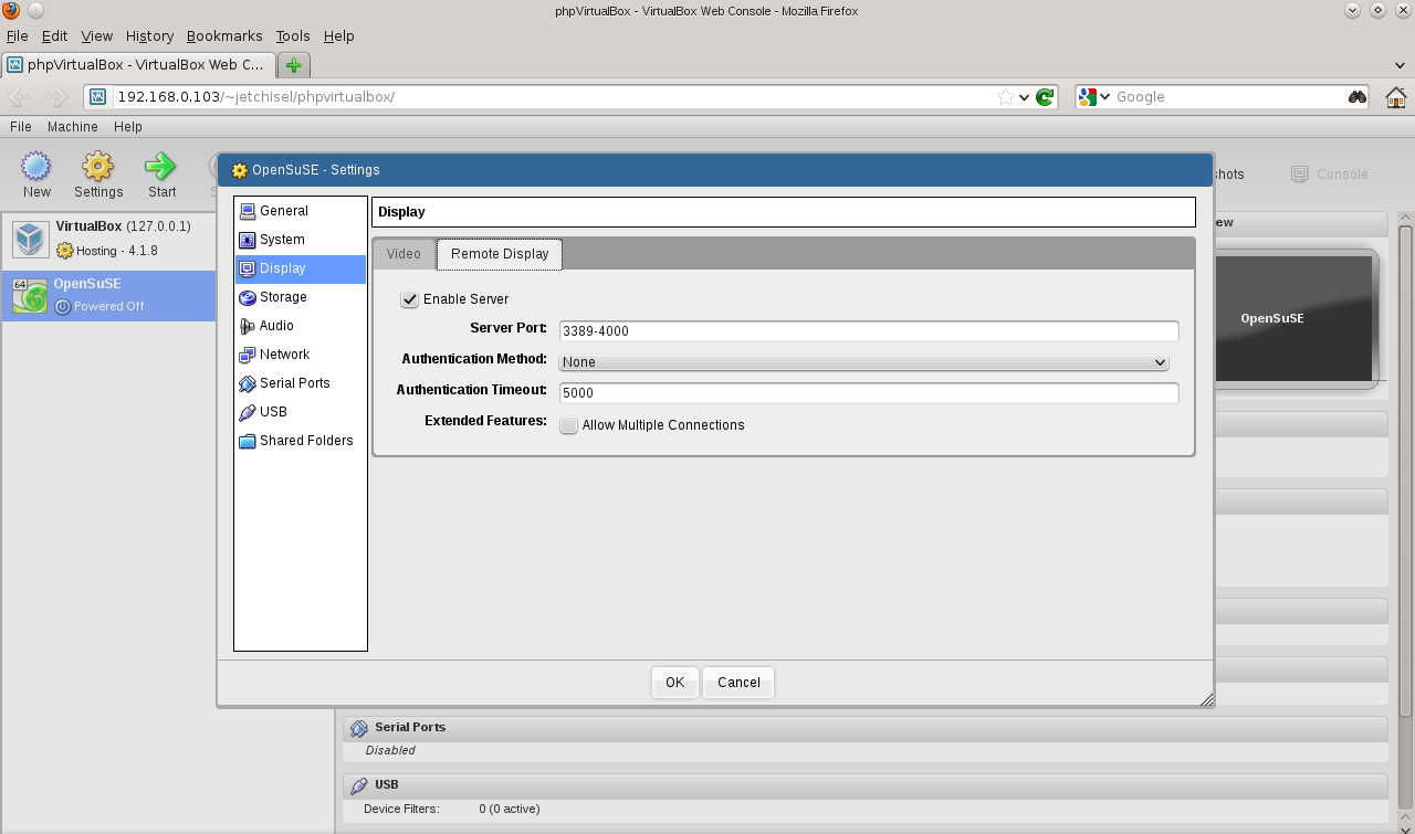 error logging in to vboxwebsrv