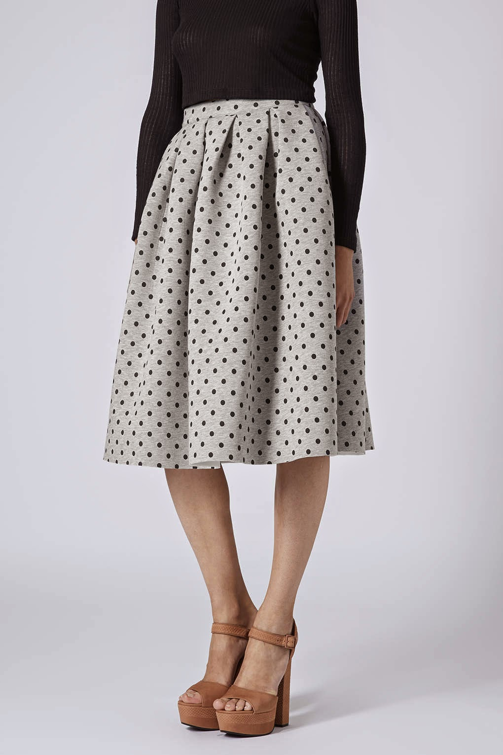 topshop spotty skirt
