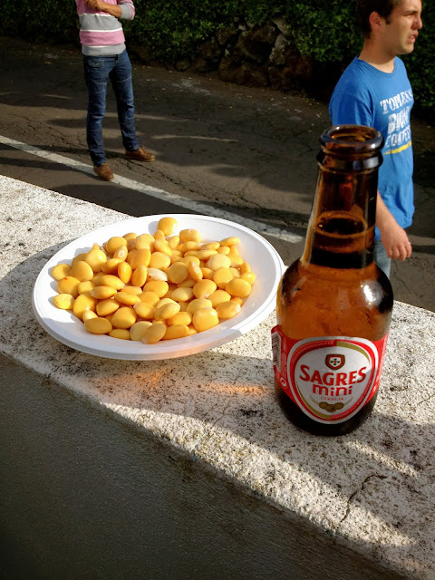 Portuguese beer and beans at Terceira street bullfight on Semi-Charmed Kind of Life