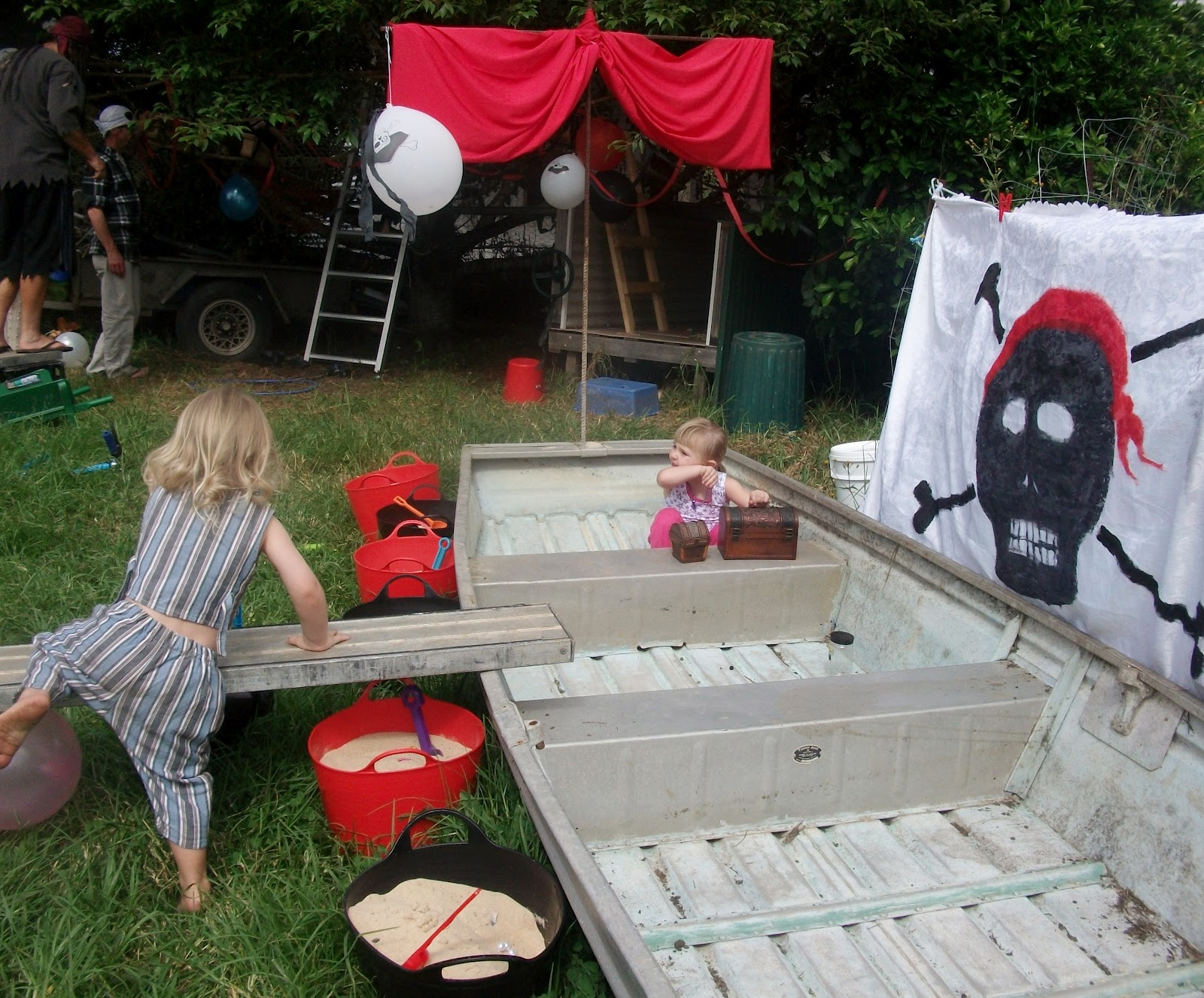 Adventures at home with Mum Pirate Party Games Part 2