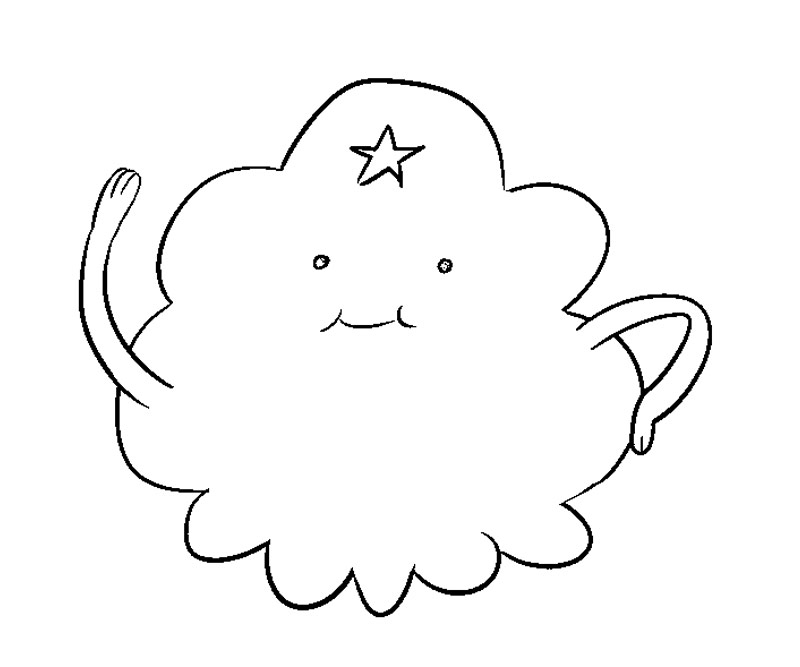 Printable Adventure Time - Lumpy Space Princess 8 Coloring Page title=