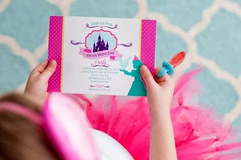THE SWAN PRINCESS printable invitation