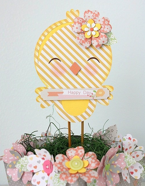 Shellye McDaniel Chickaniddy Twirly Girly Spring Centerpiece 2