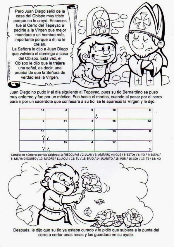 El Rincón de las Melli: Historia de Nuestra Señora de Guadalupe para ...