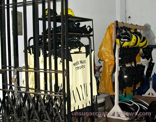 safety gear in the Intramuros tour White Knight e-chariots tours