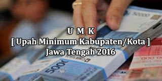 Daftar Lengkap UMK 2016 Jawa Tengah