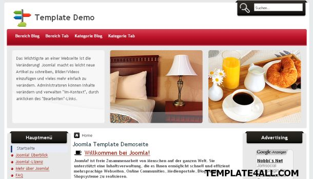 Free Joomla Restaurants Hotels Template