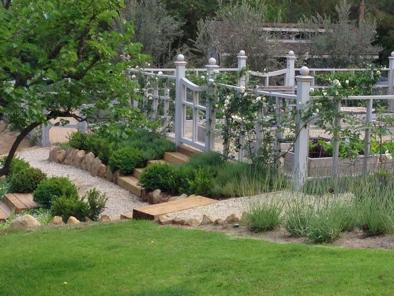 Entrance to potager garden with climbing rose