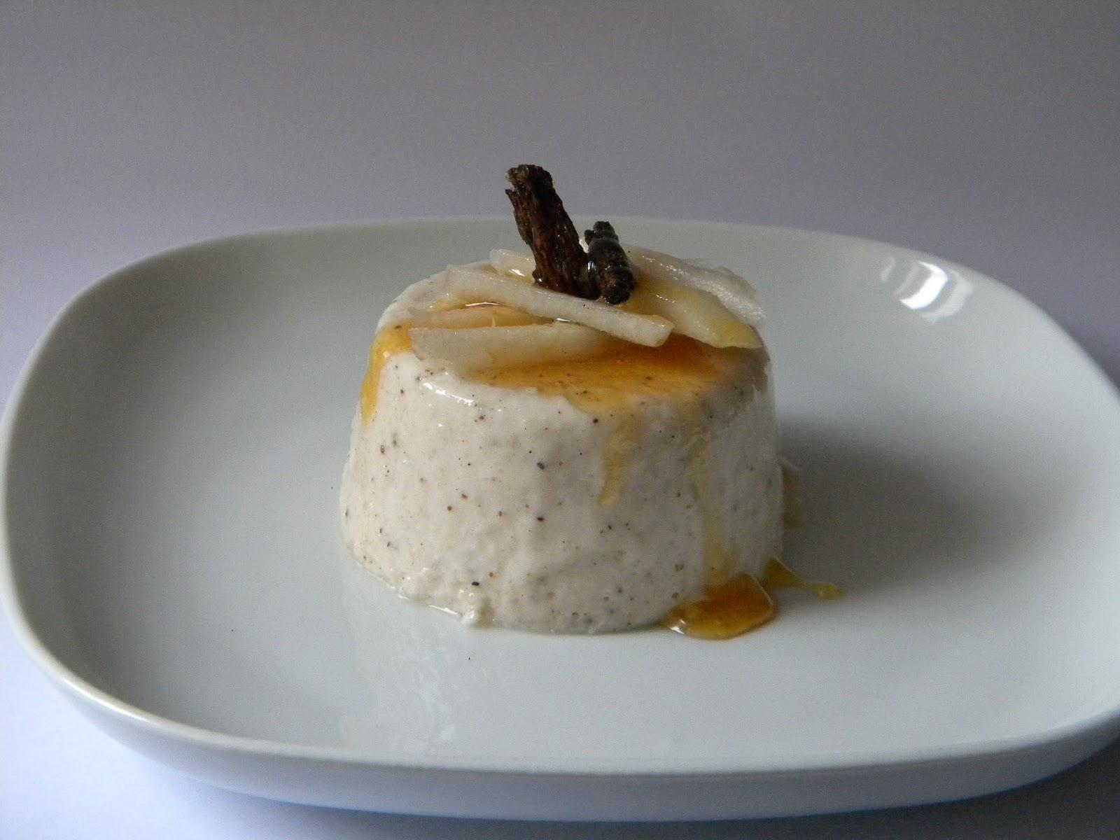 budino pera e yougurt greco