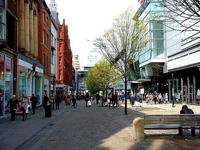 Calle de compras en Manchester