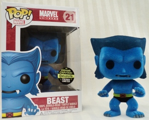 Gemini Collectibles Exclusive Flocked Beast Pop! Marvel Vinyl Figure Bobble Head by Funko