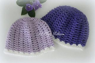 Baby Beanie Simple Crochet Pattern, Size 3-6 Months, $1.85