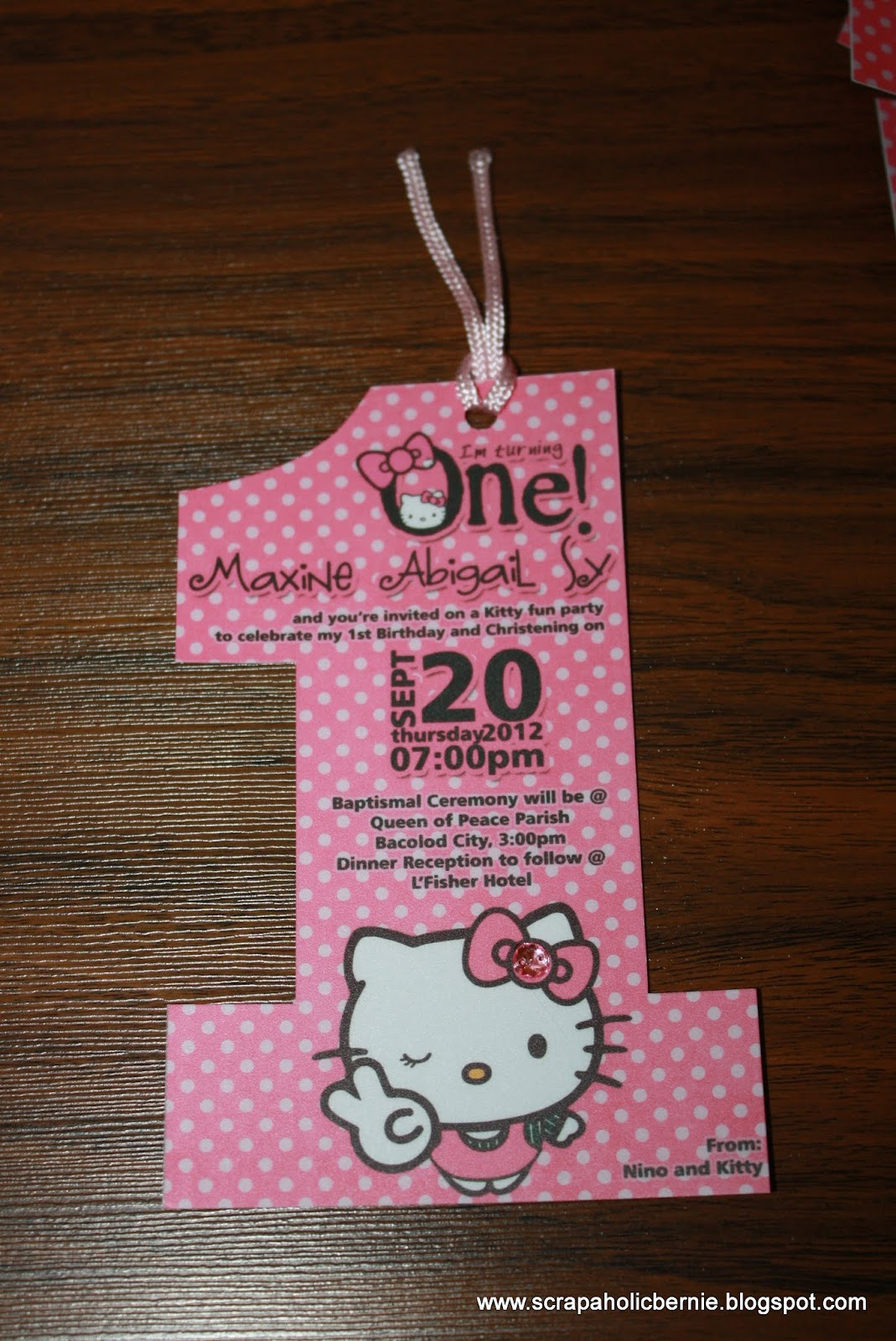 Uncategorized Hello Kitty Number f1 digital scrapaholic hello kitty no 1 invites for ms kathryn sy sy