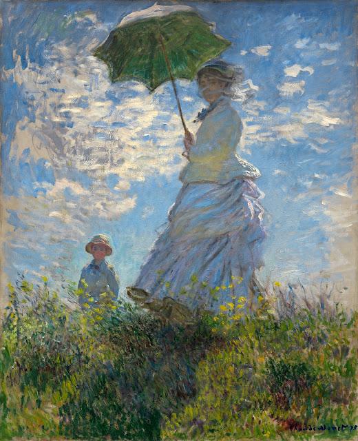 Claude Monet: Camille Monet med parasol