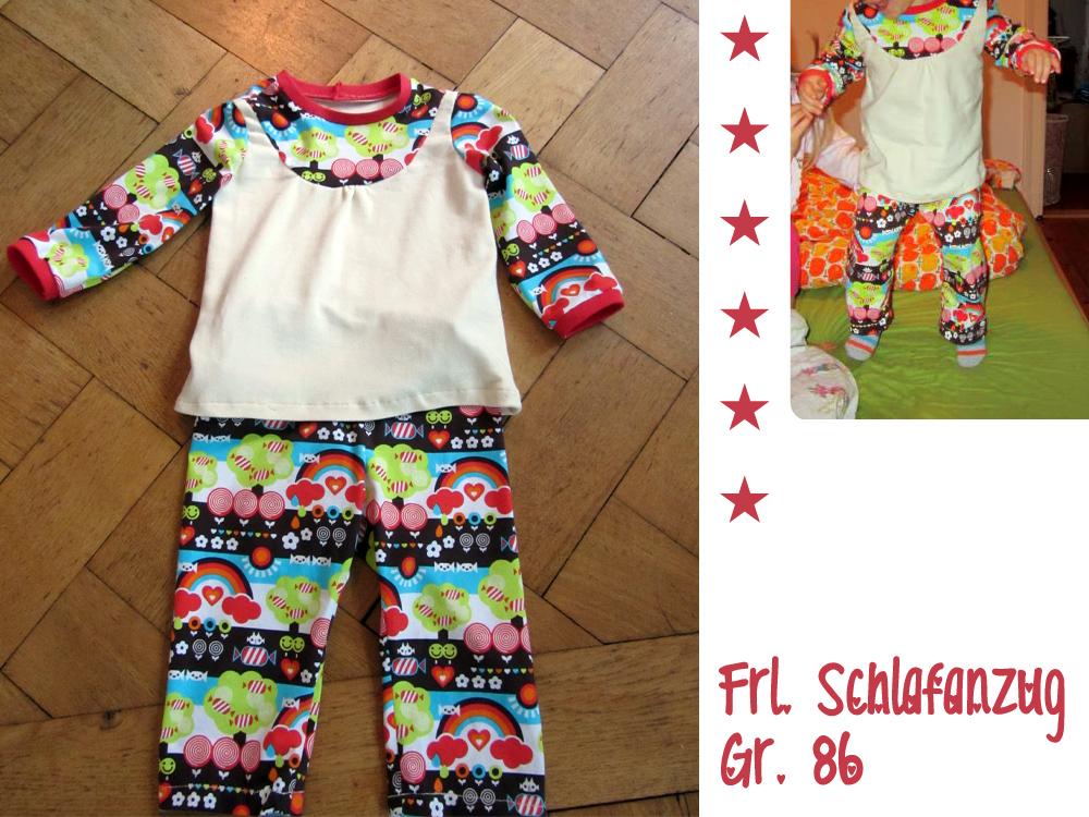 Frl. Schlafanzug: Schnittmuster Nachthemd & Mädchen-Schlafanzug ...