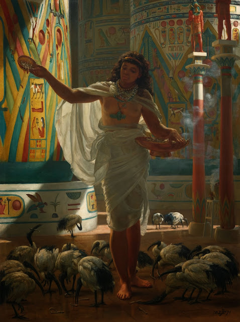 Edward Poynter,ancient egypt, classical realism
