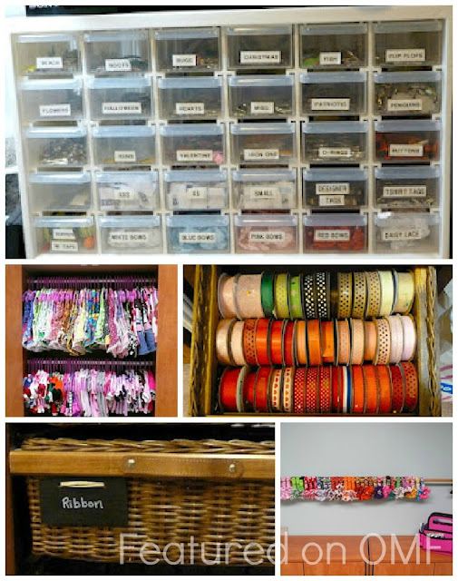 Ribbons hangers labels dog collars organized