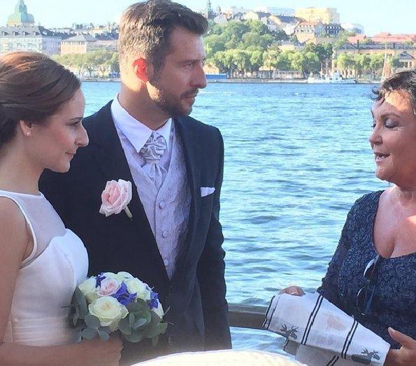 Lina Hellqvist married Jonas Frejd in Stockholm