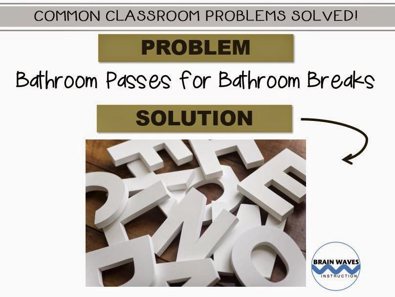 Bathroom Passes, wooden letter pass