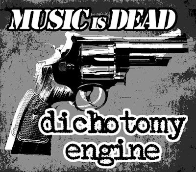 Dichotomy Engine stickers - music is dead. gun