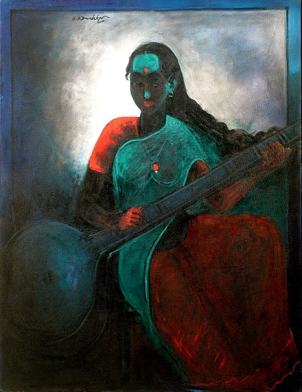 Riyaz, painting by G. A. Dandekar (part of his portfolio on www.indiaart.com)