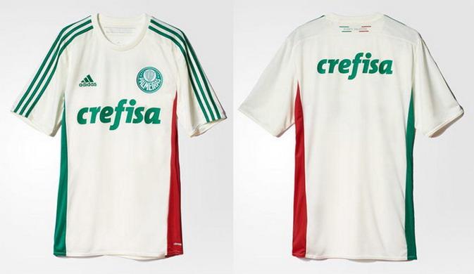 391778e6355fc Equipaciones de futbol baratas  Segunda camiseta del Palmeiras 2015 ...