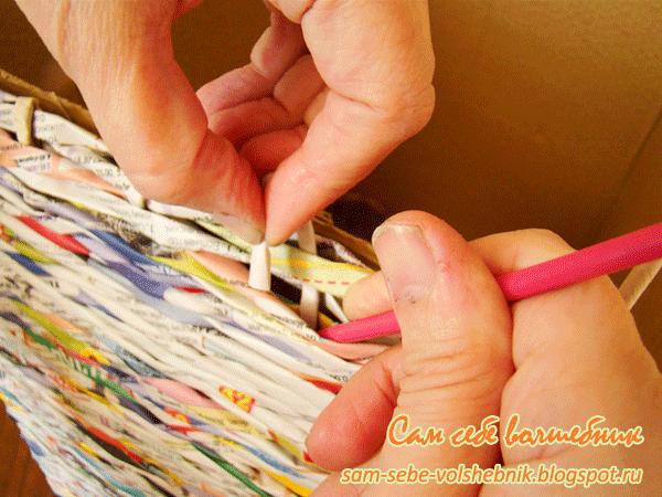 Плетеная корзина для хранения вещей. 32598