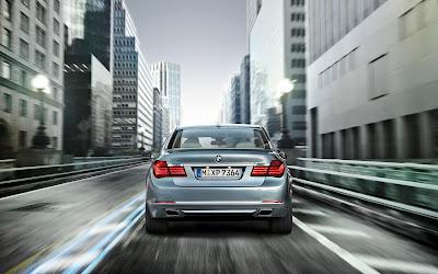 BMW Active Hybrid 7 Car Back View HD Wallpaper